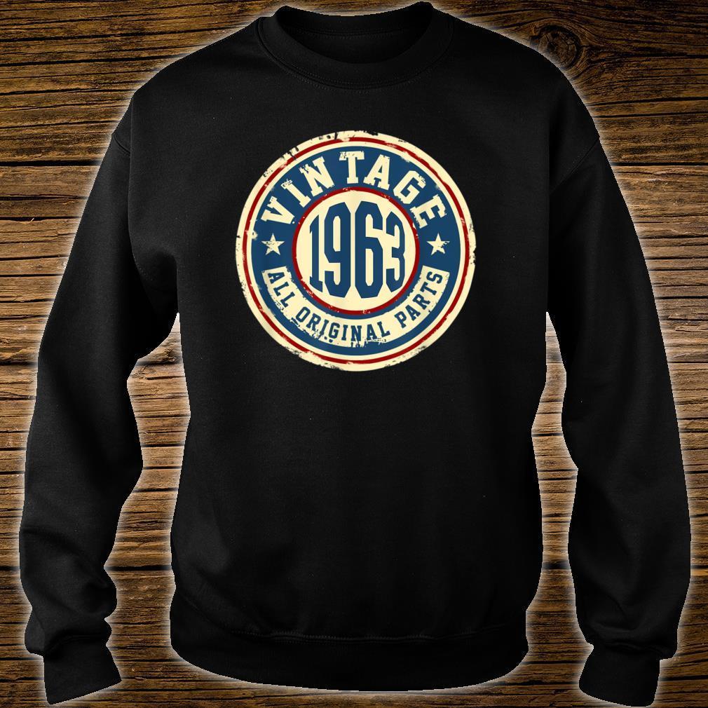 Vintage 1963 Original Parts Shirt 56th Birthday Shirt sweater